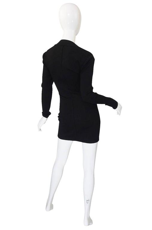 Fall 1990 Azzedine Alaia Low Scooped Fitted Knit Dress 2