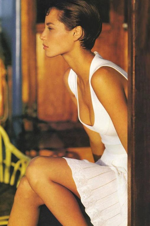 Fall 1990 Azzedine Alaia Low Scooped Fitted Knit Dress 8