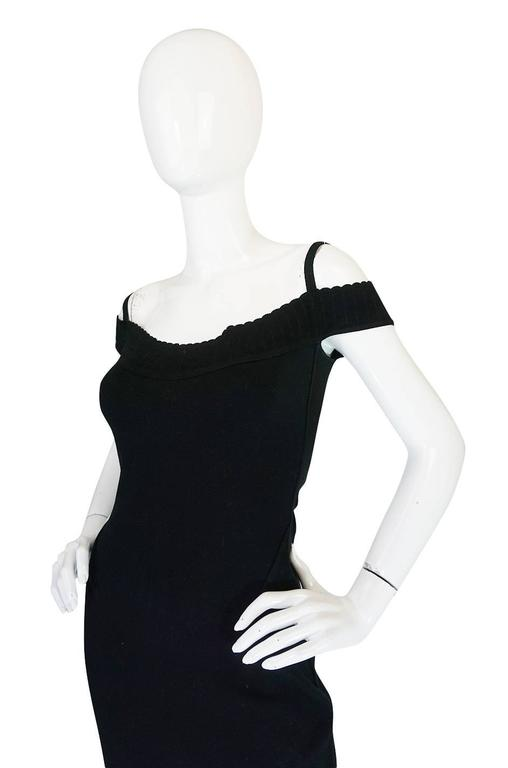 Spring 1992 Collection Azzedine Alaia Off Shoulder Dress In Excellent Condition For Sale In Toronto, CA