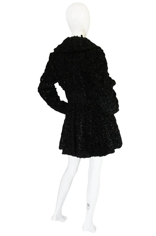 Important Fall 1991 Collection Alaia 'Astrakhan' Faux Fur Coat 2