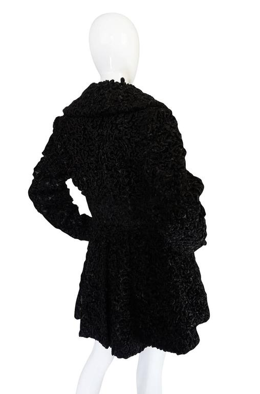 Important Fall 1991 Collection Alaia 'Astrakhan' Faux Fur Coat 5