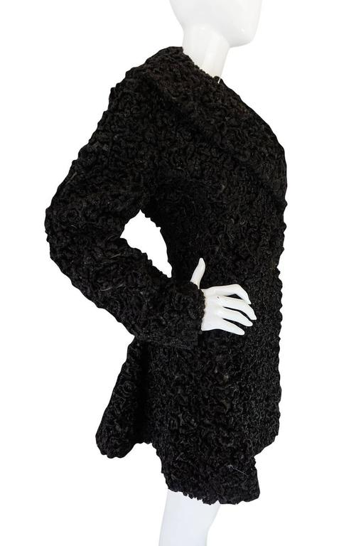 Important Fall 1991 Collection Alaia 'Astrakhan' Faux Fur Coat 6