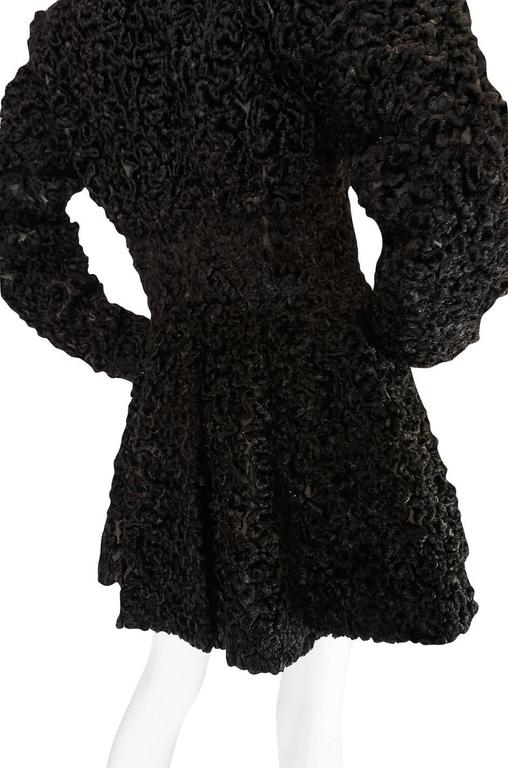 Important Fall 1991 Collection Alaia 'Astrakhan' Faux Fur Coat 8