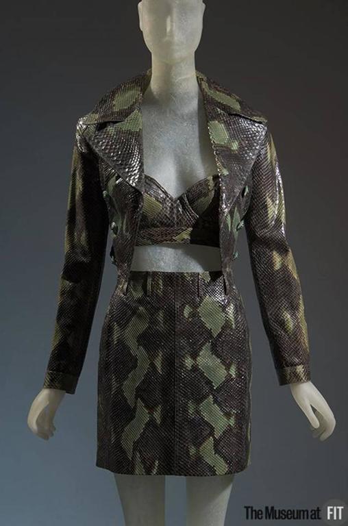 1991 Museum Held Alaia Exotic Python Skin Biker Jacket For Sale 4