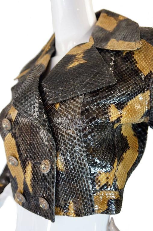 1991 Museum Held Alaia Exotic Python Skin Biker Jacket For Sale 2