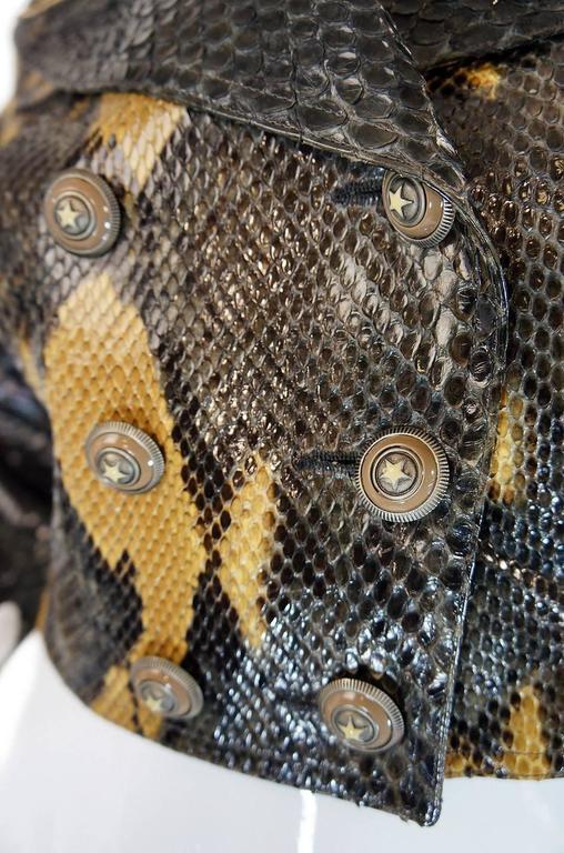 Women's 1991 Museum Held Alaia Exotic Python Skin Biker Jacket For Sale