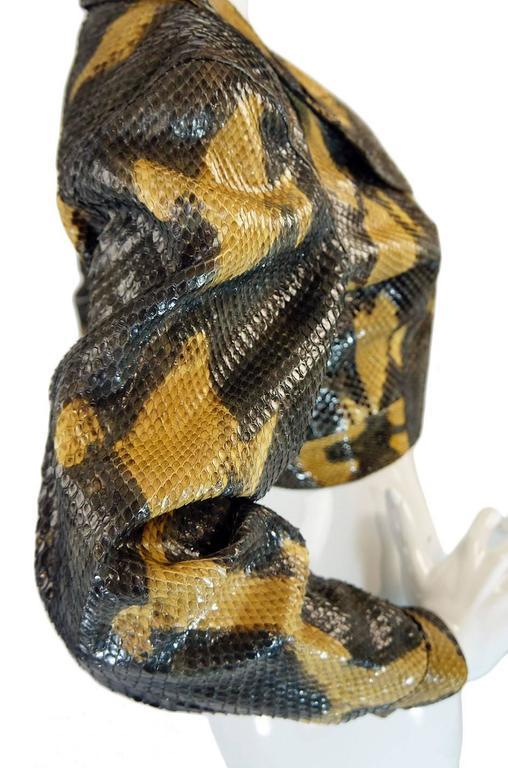 1991 Museum Held Alaia Exotic Python Skin Biker Jacket For Sale 1