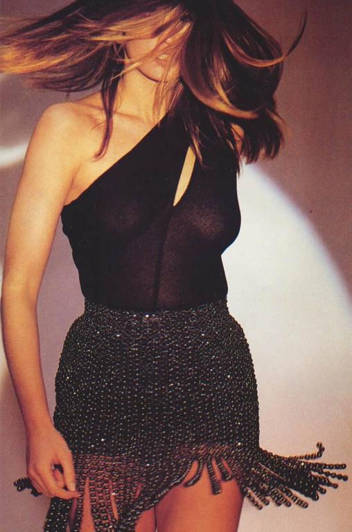 Important 1988-89 Azzedine Alaia Black One Shoulder Dress 10