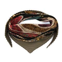 A Rare Hermes Vintage Silk  'Plisse'  Scarf - 'Festival' by Henry d'Origny