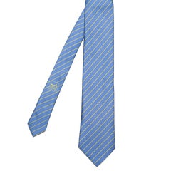 A Superb Vintage Hermes Silk Tie - 'Diagonal Stripes'