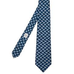 Delightful Vintage Hermes Silk Tie 'Zebra's'