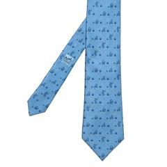 Whimsical Vintage Hermes Silk Tie - 'Banana Moon'