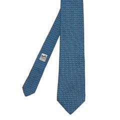 Pristine Vintage Hermes Silk Tie - 'Geometric Lines'