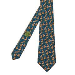 'Red Squirrels' - Vintage Hermes Silk Tie