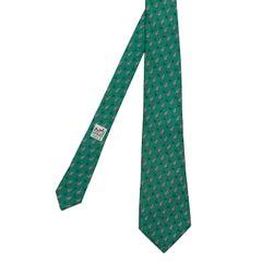 As New Vintage Hermes Silk Tie - 'Toads'