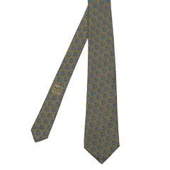 Whimsical Vintage Hermes Silk Tie - 'Reindeer'