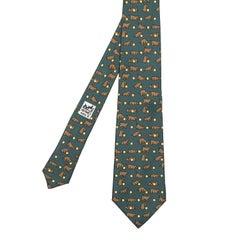 'Playful Pup' Pristine Vintage Hermes Silk Tie