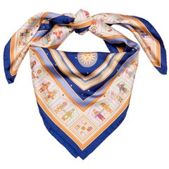 Hermes Silk Scarf  'Donner la Main, by Karen Petrossian