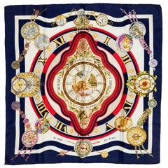 Hermes Millenium Celebration Silk Scarf 'Le Ronde des Heures' by Loic Dubigeon