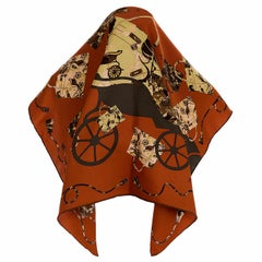 Pristine Hermes Silk Scarf 'Kelly en Caleche' by Cyrille Diatkine