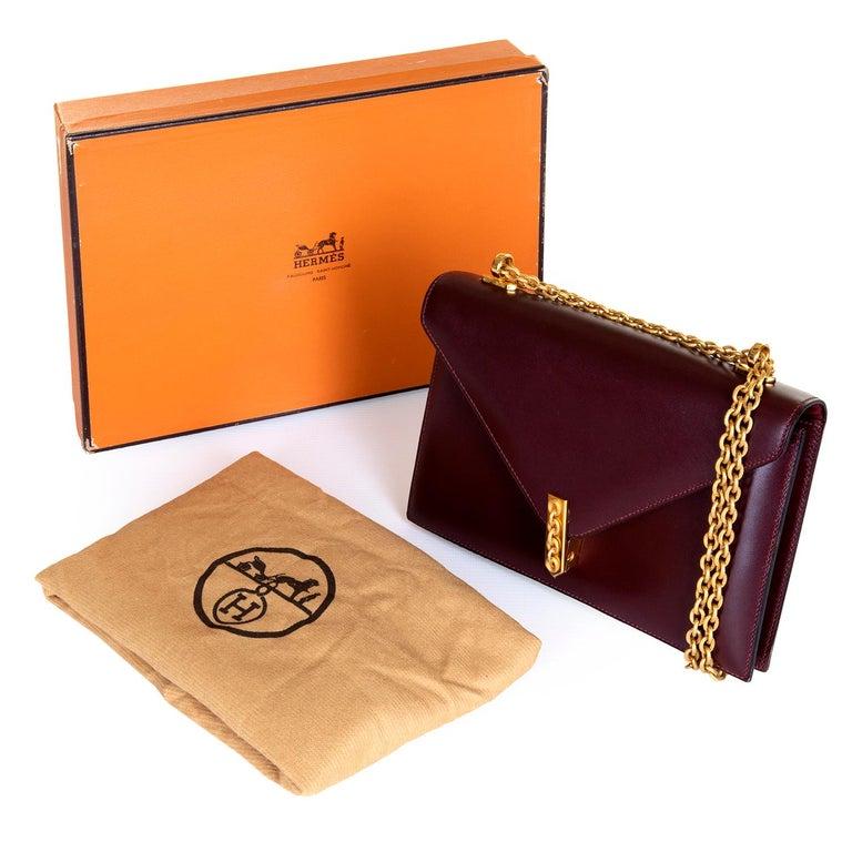 472f165322f A Rare Hermes  Alcazar  Evening Bag in Burgundy Box Calfskin Leather For  Sale 2