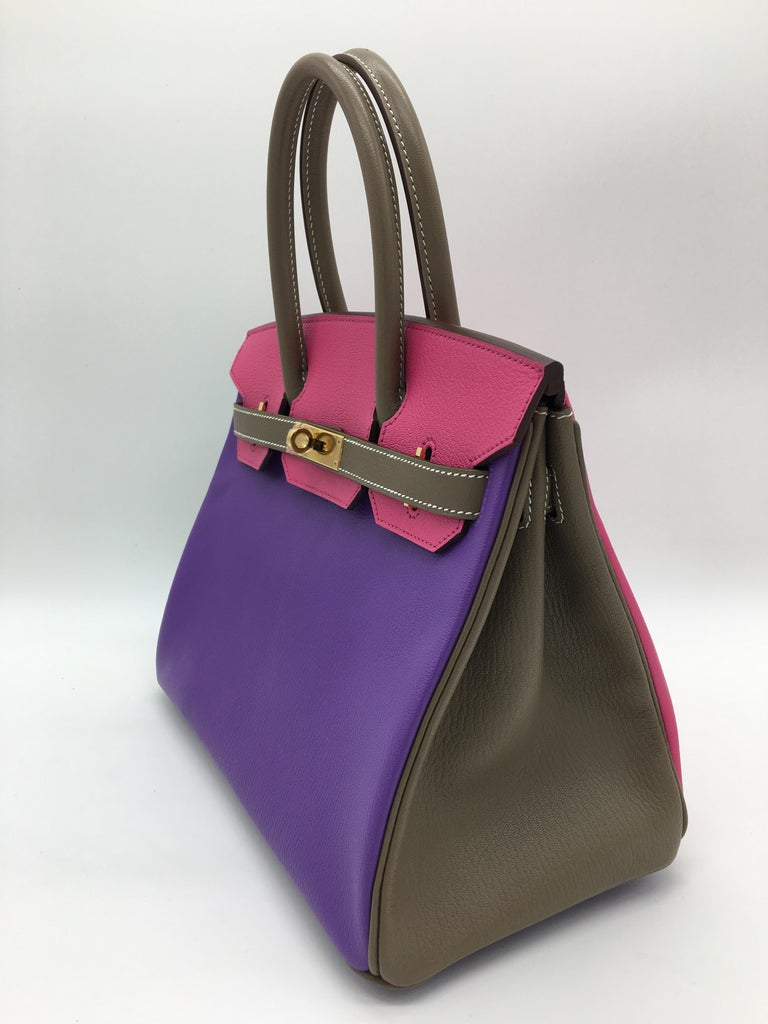 1b5f81159f Hermes Parme Rose Tyrien Etoupe HSS Birkin 30cm Bag For Sale at 1stdibs