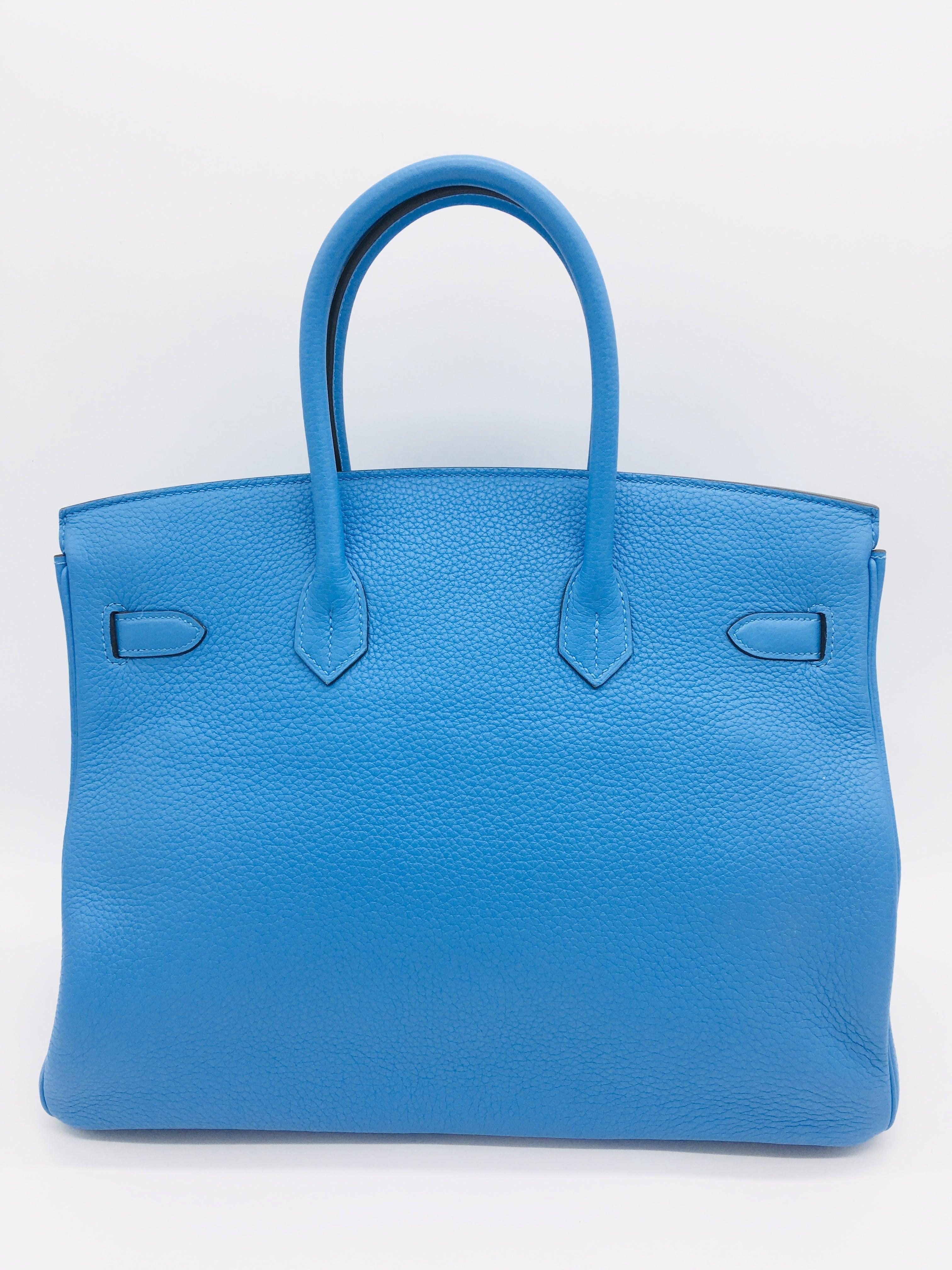 8cf8353029 Hermes Bleu Paradis Birkin 35cm in Clemence For Sale at 1stdibs