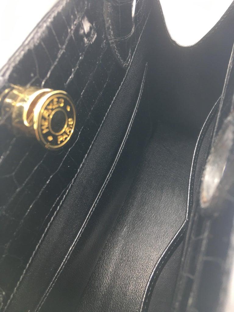 Black Hermes vintage Dalvy 30cm For Sale