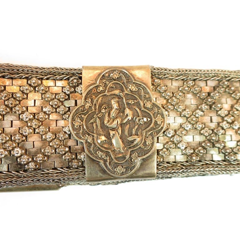 Early 19th Century Asian Silver Belt, China 1830s For Sale 1