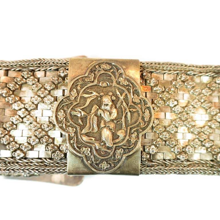 Early 19th Century Asian Silver Belt, China 1830s For Sale 2
