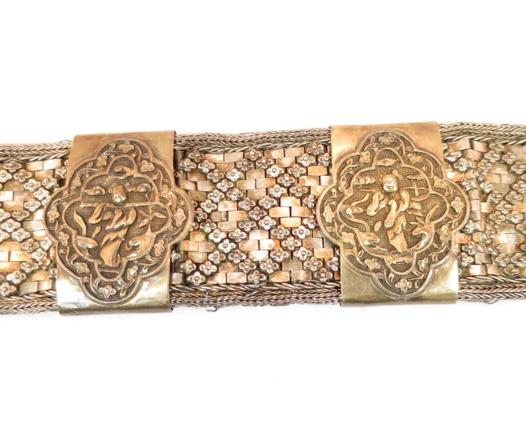 Early 19th Century Asian Silver Belt, China 1830s For Sale 3