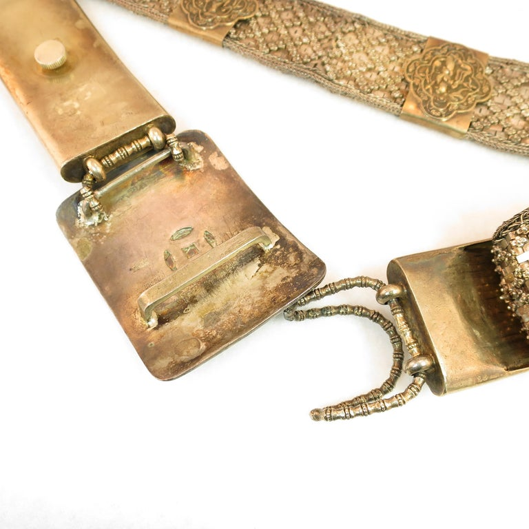 Early 19th Century Asian Silver Belt, China 1830s For Sale 4