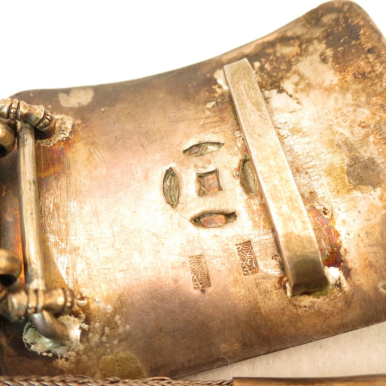Early 19th Century Asian Silver Belt, China 1830s For Sale 5