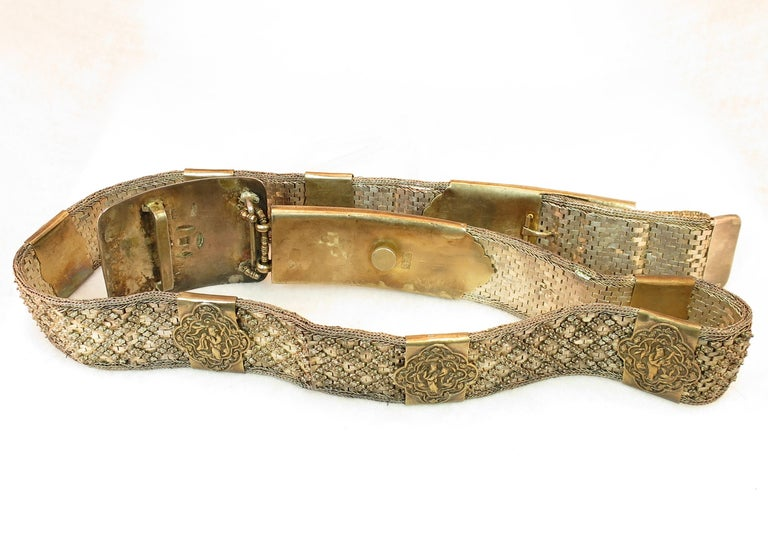 Early 19th Century Asian Silver Belt, China 1830s For Sale 8