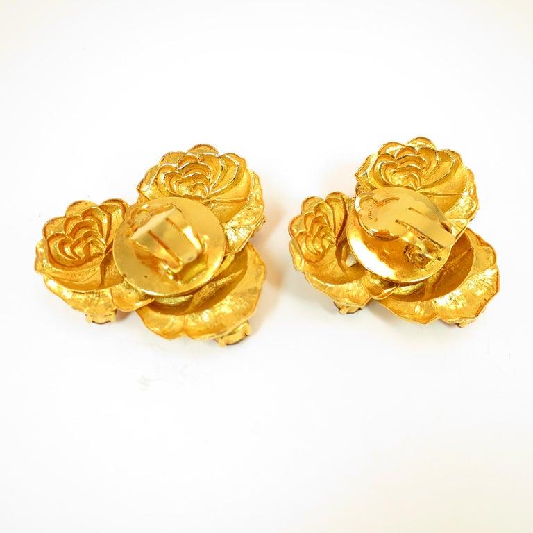 Dominique Aurientis Paris Gilded Floral Necklace Suite 1980s For Sale 10
