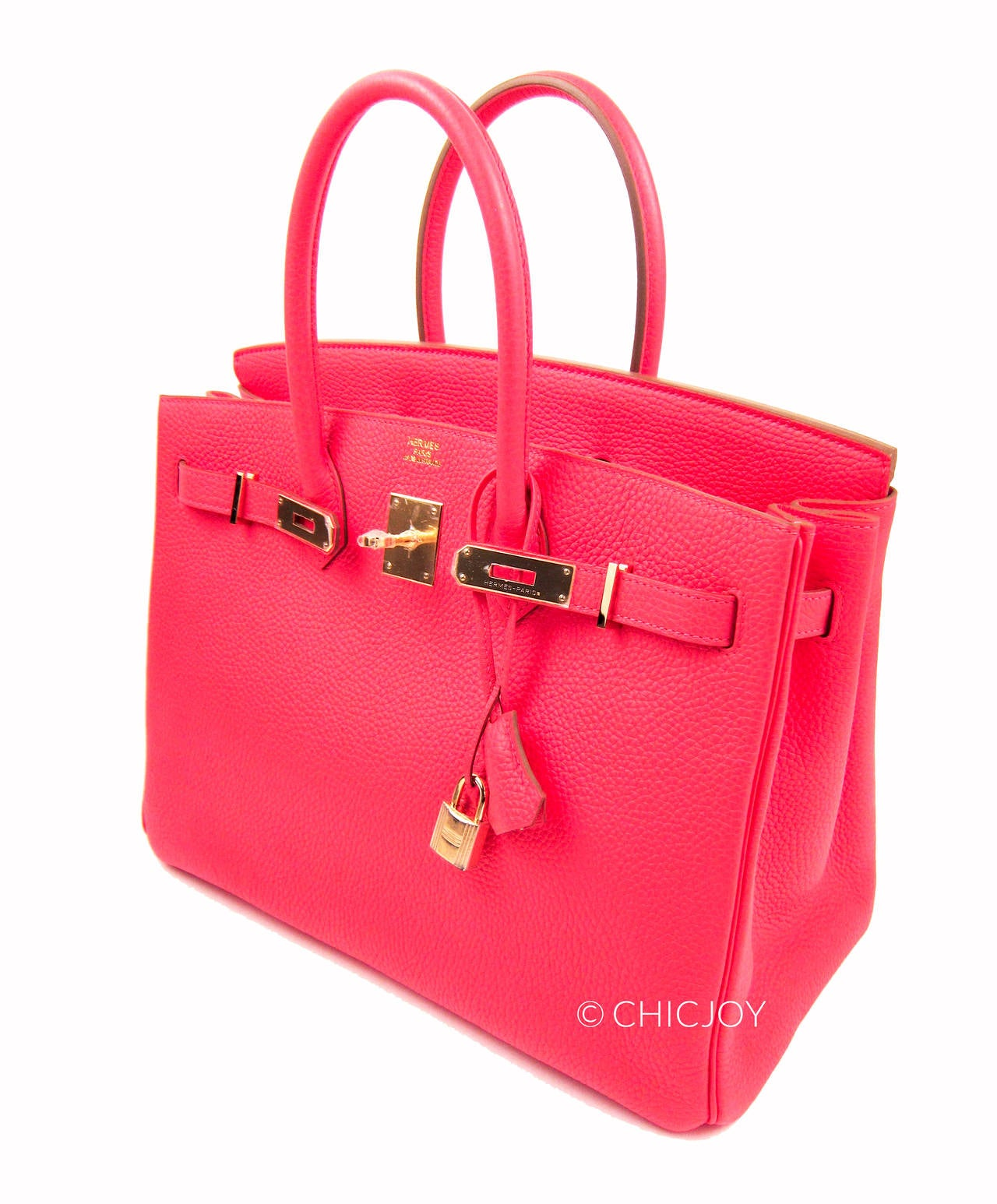 Hermes Rose Jaipur 35cm Birkin Gold Hardware GHW GLOWING 4