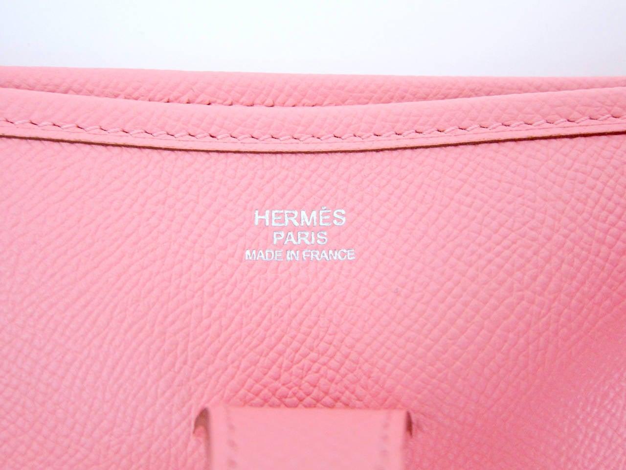 Hermes Rose Confetti PM Evelyne Crossbody Messenger Bag ADORABLE ...