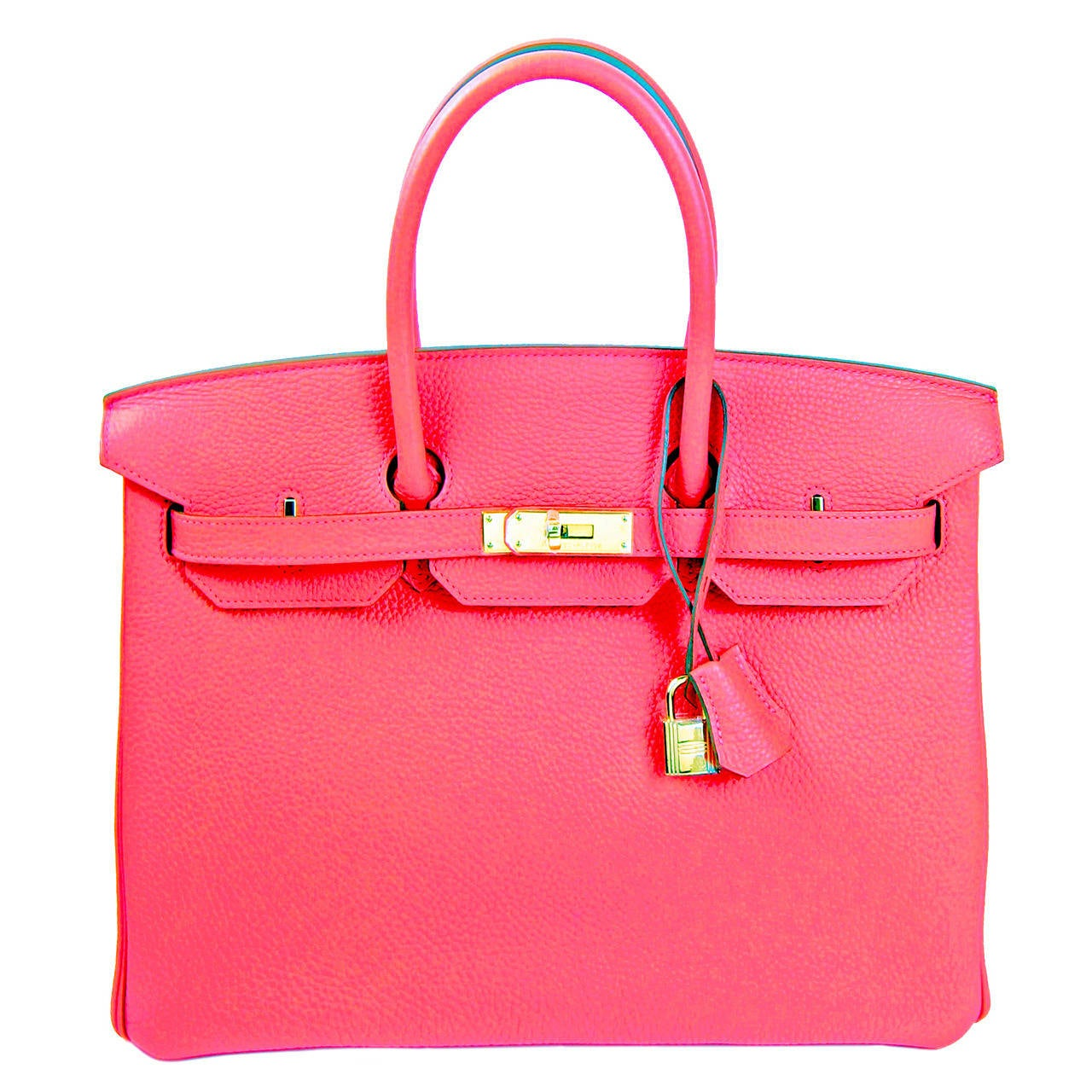 Hermes Rose Jaipur 35cm Birkin Gold Hardware GHW GLOWING 1