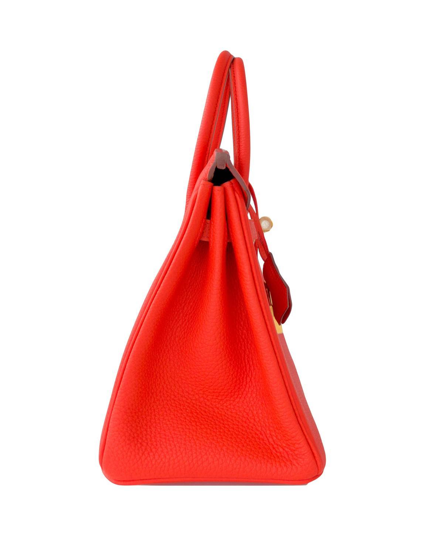 87baad2affd1 fake hermes birkin bag for sale - Hermes Capucine Baby Birkin Red Orange 25cm  Togo Gold