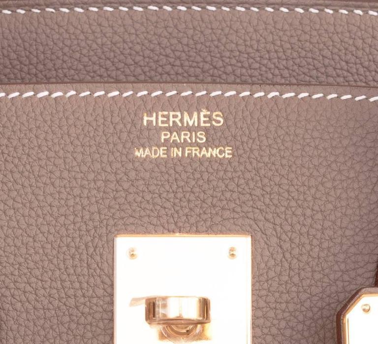 42964824ec1b Hermes Etoupe Togo 35cm Birkin Gold Hardware GHW Tote Bag at 1stdibs