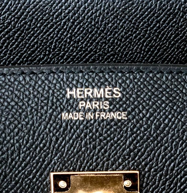 Hermes Black 35cm Birkin Gold Hardware Epsom Bag Power Birkin 6