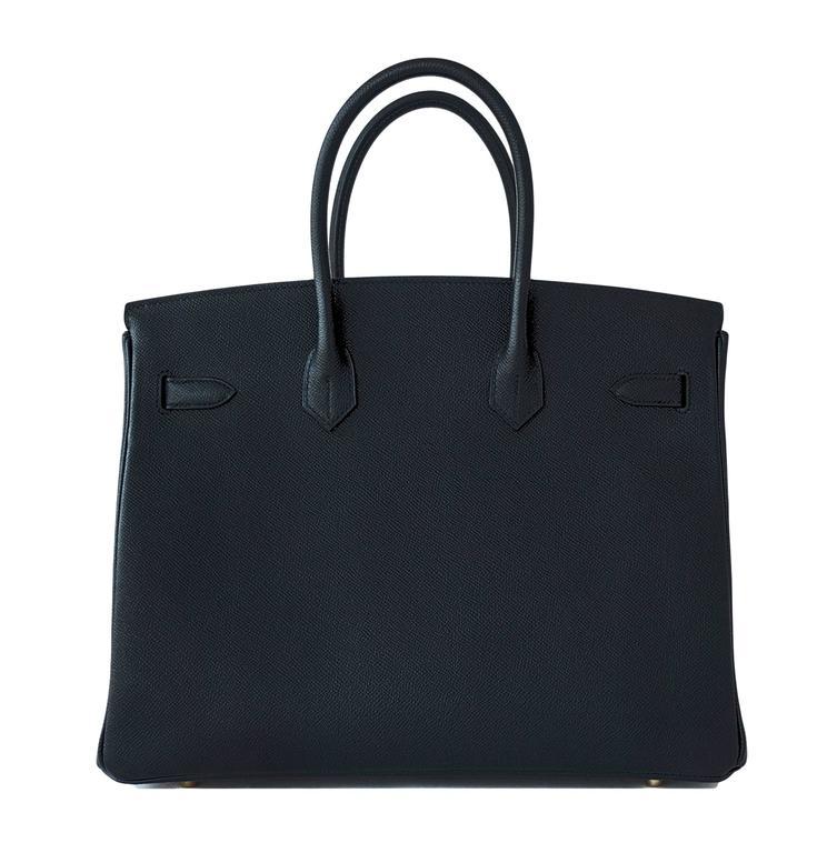 Hermes Black 35cm Birkin Gold Hardware Epsom Bag Power Birkin 5