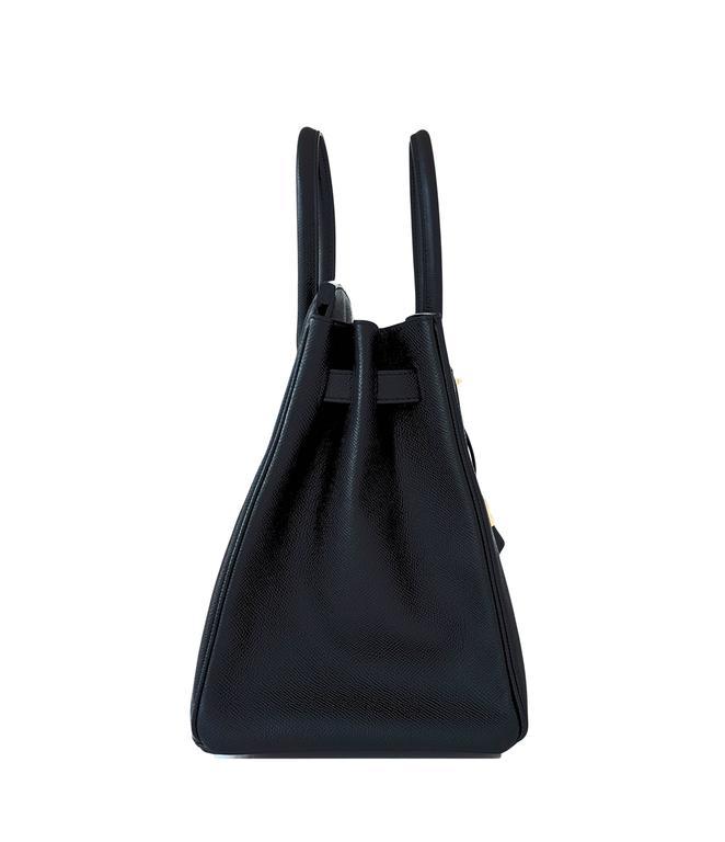 Hermes Black 35cm Birkin Gold Hardware Epsom Bag Power Birkin 8