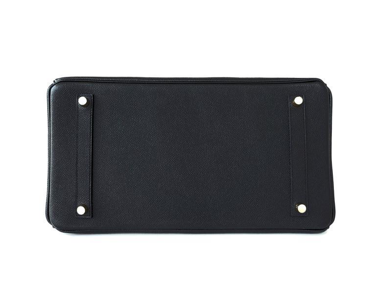 Hermes Black 35cm Birkin Gold Hardware Epsom Bag Power Birkin 7