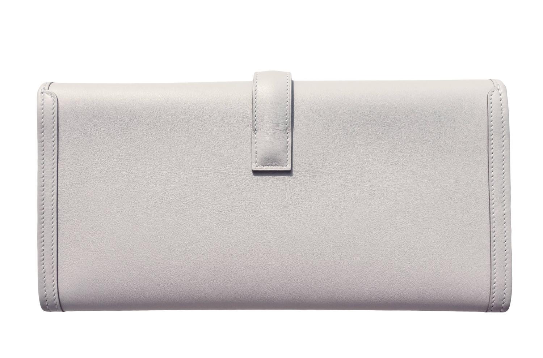 hermes gris perle leather envelope clutch birkin bag for sale. Black Bedroom Furniture Sets. Home Design Ideas