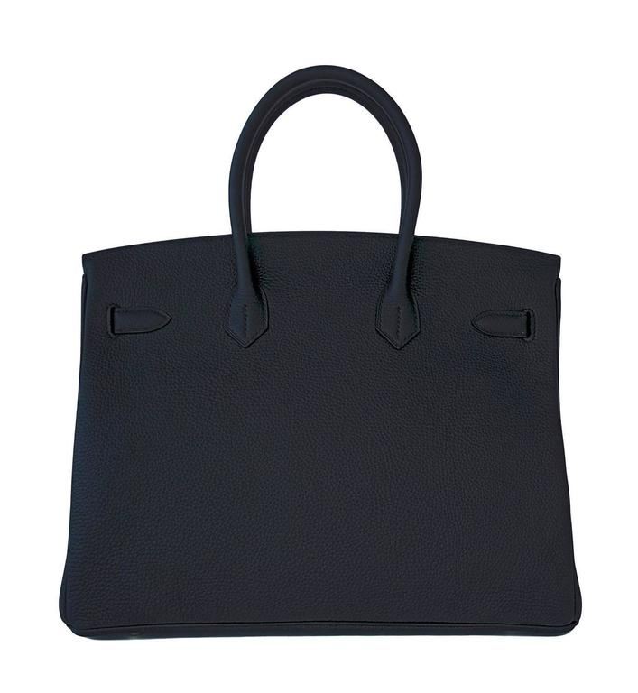 Hermes Black Togo 35cm Birkin Palladium Hardware Bag Superbly Chic 5