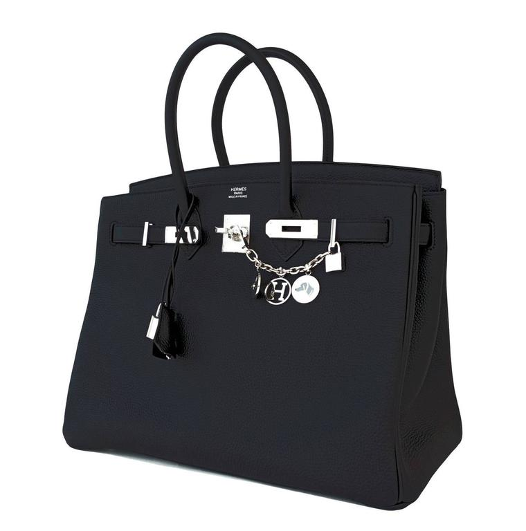 Hermes Black Togo 35cm Birkin Palladium Hardware Bag Superbly Chic 2