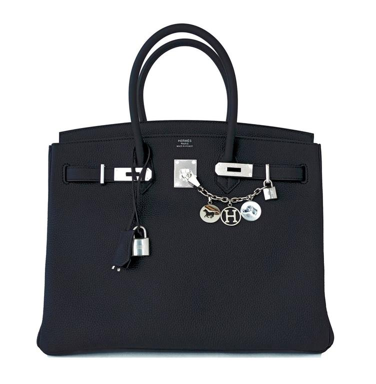 Hermes Black Togo 35cm Birkin Palladium Hardware Bag Superbly Chic 3