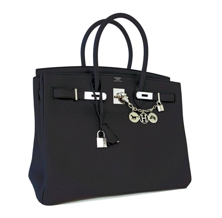 Hermes Black Togo 35cm Birkin Palladium Hardware Bag Superbly Chic 4