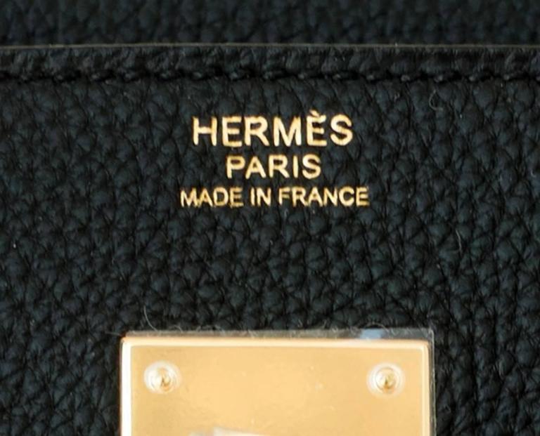 Hermes 30cm Black Togo Birkin Bag Gold Hardware GHW Chic 3